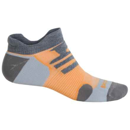 Brooks Infiniti Race Day Double-Tab Socks - Below the Ankle (For Men and Women) in Grey/Orange - Closeouts