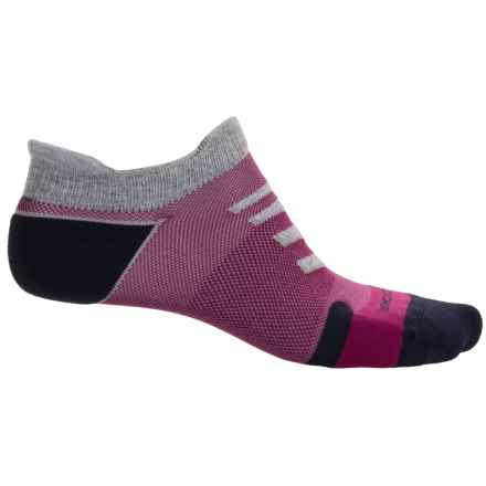 Brooks Infiniti Race Day Double-Tab Socks - Below the Ankle (For Men and Women) in Oxford/Current/Navy - Closeouts