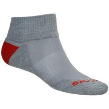Brooks Infiniti Race Day Socks - Wool, Ankle (For Men and Women) in Grey/Red - 2nds