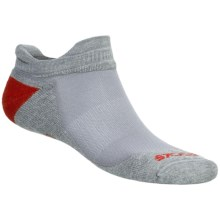 Brooks Infiniti Race Day Socks - Wool, Double Tab, Below-the-Ankle (For Men and Women) in Light Grey/Graphite/Red - 2nds