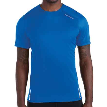 Brooks Infiniti Shirt - Short Sleeve (For Men) in Electric/Taxi - Closeouts