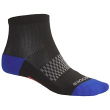 Brooks Infiniti Socks - Lightweight, Ankle (For Men) in Black/Blue/Grey/Red - 2nds