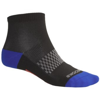 Brooks Infiniti Socks - Lightweight, Ankle (For Men) in Black/Blue/Grey/Red