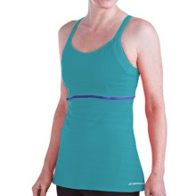 Brooks Infiniti Support Tank Top - Built-In Bra (For Women) in Caribbean - Closeouts