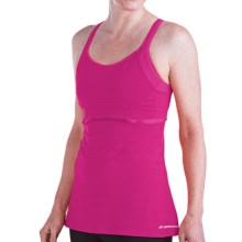 Brooks Infiniti Support Tank Top - Built-In Bra (For Women) in Fuchsia - Closeouts