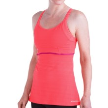 Brooks Infiniti Support Tank Top - Built-In Bra (For Women) in Poppy - Closeouts