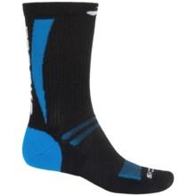 Brooks Infiniti Surge Crew Socks (For Men and Women) in Black/Brooks Blue/White - Closeouts