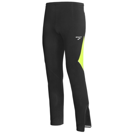 Brooks Infiniti Tights (For Men) in Black/Nightlife