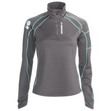 Brooks Infiniti Zip Neck Pullover - Midweight (For Women) in Carbon - Closeouts