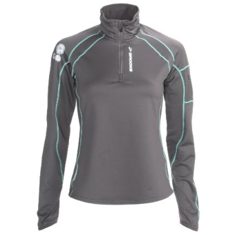 Brooks Infiniti Zip Neck Pullover - Midweight (For Women) in Carbon