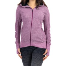 Brooks Joyride Hoodie - Full Zip (For Women) in Heather Currant/Navy - Closeouts
