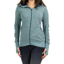 Brooks Joyride Hoodie - Full Zip (For Women) in Heather Kale/Oxford - Closeouts