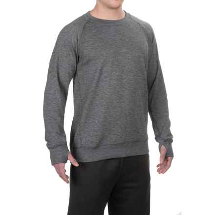 Brooks Joyride Sweatshirt - Merino Wool (For Men) in Heather Black - Closeouts