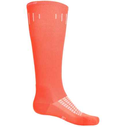 Brooks Knee-High Compression Socks - Over the Calf (For Men and Women) in Brite Orange - Closeouts