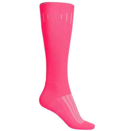 Brooks Knee-High Compression Socks - Over the Calf (For Men and Women) in Brite Pink - Closeouts