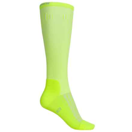 Brooks Knee-High Compression Socks - Over the Calf (For Men and Women) in Neon Yellow - Closeouts