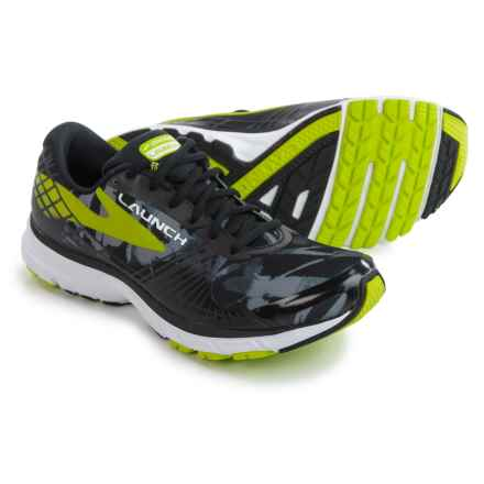 Brooks Launch 3 Running Shoes (For Men) in Black/Primer Grey/Lime Punch - Closeouts