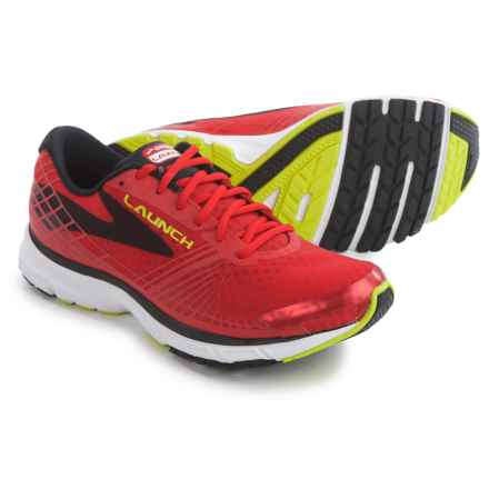 Brooks Launch 3 Running Shoes (For Men) in High Risk Red/Black/Nightlife - Closeouts