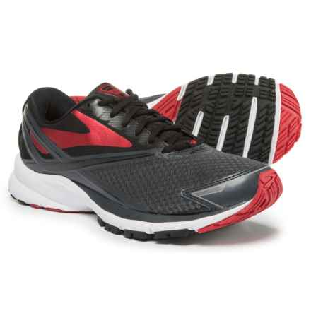Brooks Launch 4 Running Shoes (For Men) in Anthracite/Black/High Risk Red - Closeouts