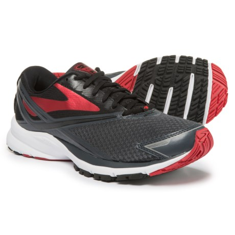 Brooks Launch 4 Running Shoes (For Men) in Anthracite/Black/High Risk Red