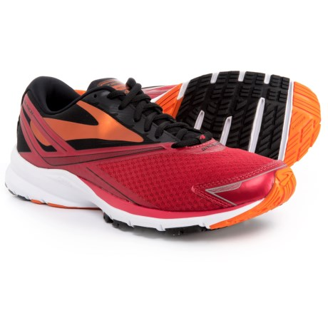 Brooks Launch 4 Running Shoes (For Men) in High Risk Red/Black/Orange Peel