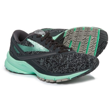 Brooks Launch 4 Running Shoes (For Women) in Anthracite/Beach Glass/Silver