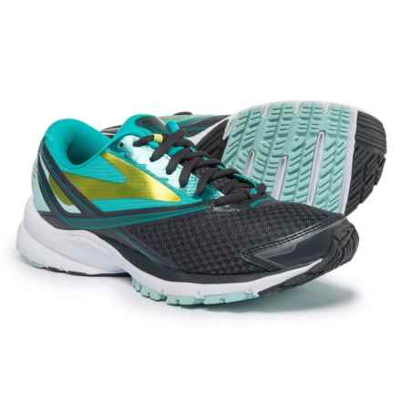 Brooks Launch 4 Running Shoes (For Women) in Anthracite/Ceramic/Lime Punch - Closeouts