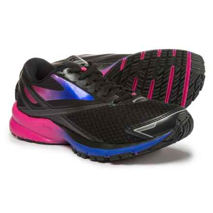 Brooks Launch 4 Running Shoes (For Women) in Black/Fuchsia Purple/Dazzling Blue - Closeouts