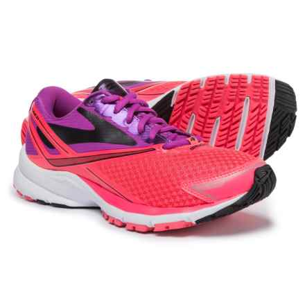 Brooks Launch 4 Running Shoes (For Women) in Purple Cactus Flower/Diva Pink/Black - Closeouts