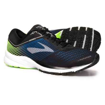 Brooks Launch 5 Running Shoes (For Men) in Black/Blue/Green - Closeouts