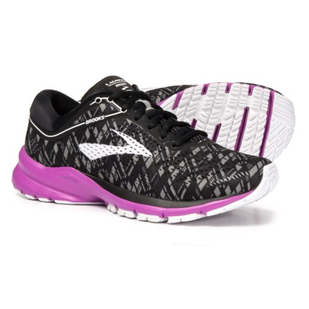 Brooks Launch 5 Running Shoes (For Women) in Black Purple Print - c6586eff67