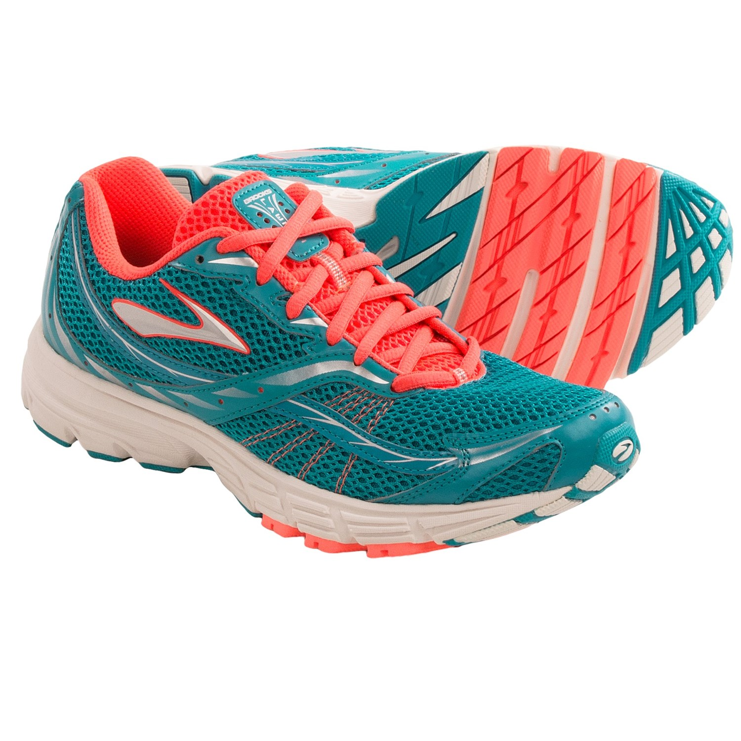 Brooks Launch Cross Training Shoes (For Women) in Caribbean/Silver