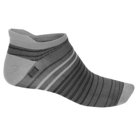 Brooks Launch Lightweight Tab Socks - Below the Ankle (For Men and Women) in Asphalt/Black - Closeouts