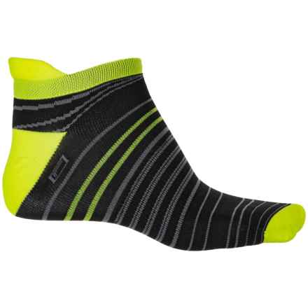 Brooks Launch Lightweight Tab Socks - Below the Ankle (For Men and Women) in Black Nightlife - Closeouts