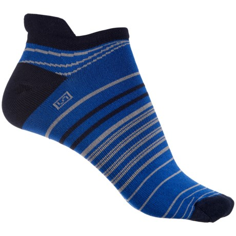 Brooks Launch Lightweight Tab Socks - Below the Ankle (For Men and Women) in Navy Marathon