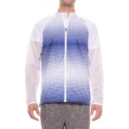 Brooks LSD Jacket (For Men) in White/Cobolt Verge - Closeouts