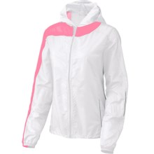 Brooks LSD Lite II Jacket (For Women) in White/Bright Pink - Closeouts
