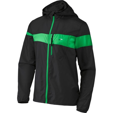 Brooks LSD Lite Jacket III (For Men) in Black/Fern