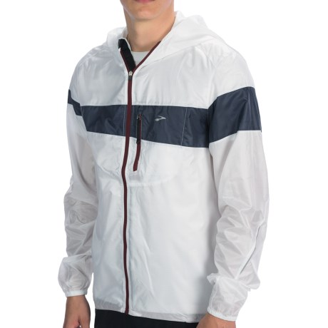 Brooks LSD Lite Jacket III (For Men) in White/Midnight/Matador