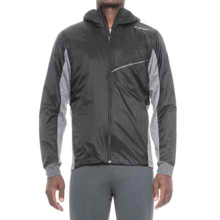 Brooks LSD Thermal Jacket - Insulated (For Men) in Black/Heather Black - Closeouts