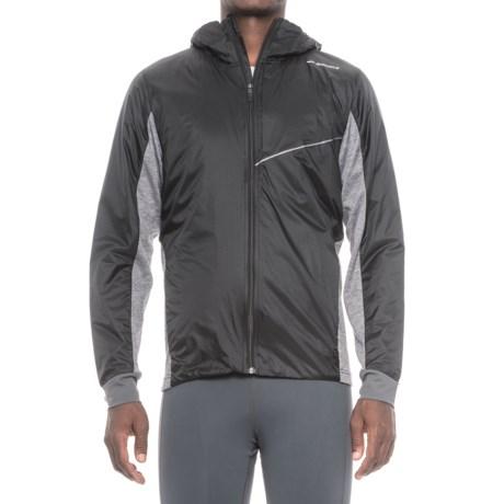 Brooks LSD Thermal Jacket - Insulated (For Men) in Black/Heather Black