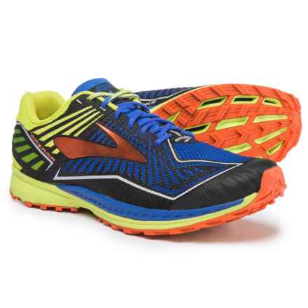 Brooks Mazama Trail Running Shoes (For Men) in Electric Brooks Blue/Lime Popsicle/Cherry Tomato - Closeouts