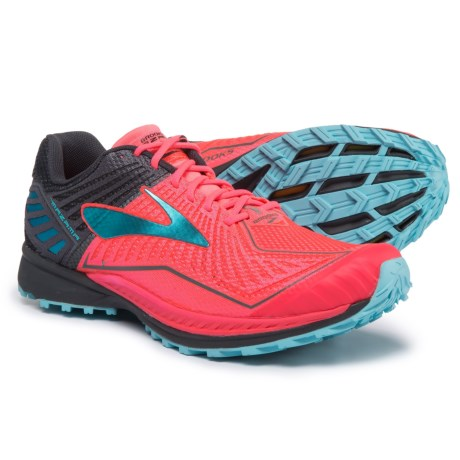 5fec3f1a271 Brooks Mazama Trail Running Shoes (For Women) in Diva Pink Anthracite Blue