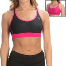Brooks Moving Comfort Switch It Up Sports Bra - Medium Impact, Reversible (For Women) in Black/Powerpink - Closeouts