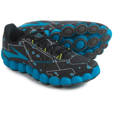 Brooks Neuro Running Shoes (For Men) in Metallic Charcoal/Electric Blue Lemonade/Night
