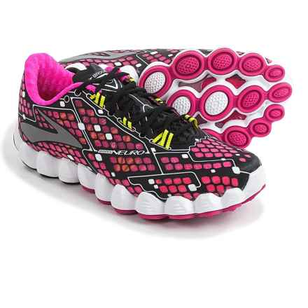 Brooks Neuro Running Shoes (For Women) in Pink Glo/Black/Nightlife - Closeouts