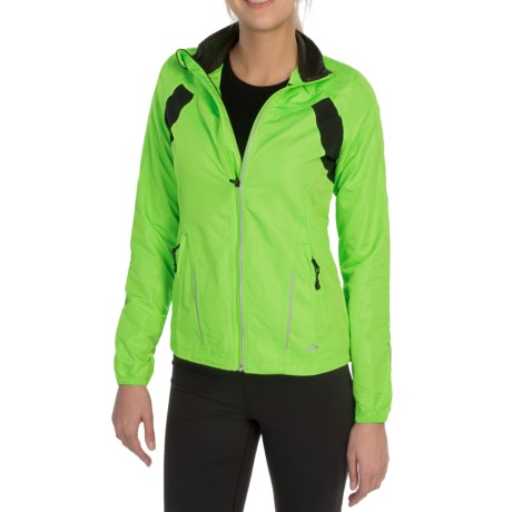 Brooks Nightlife Essential Run Jacket  II (For Women) in Brite Green