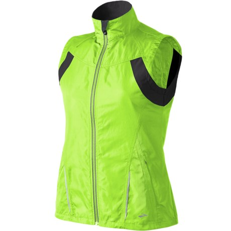 Brooks Nightlife Essential Run Vest II (For Women) in Brite Green