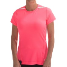 Brooks Nightlife Running Shirt - Short Sleeve (For Women) in Brite Pink/Midnight - Closeouts