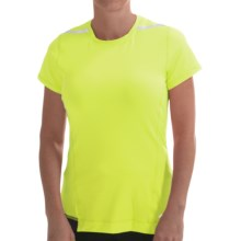 Brooks Nightlife Running Shirt - Short Sleeve (For Women) in Nightlife/Black - Closeouts